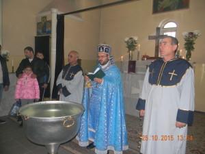 Освящение воды Святым миро и Обретение Животворящего Древа Креста Господня в г. Майкопе