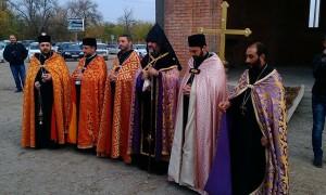 Освящение Купольного Креста Церкви Сурб Саргис В Моздоке.